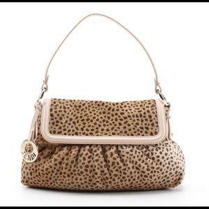 Fendi shoulder bag in cheetah pony hair design